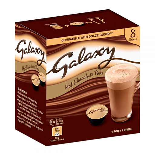 Galaxy Hot Chocolate Pods كبسولات الهوت جوكليت بنكهة شوكولاتة الكالاكسي