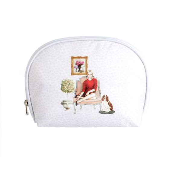 f317bfb99 Madame coco oval makeup bag حقيبة مكياج