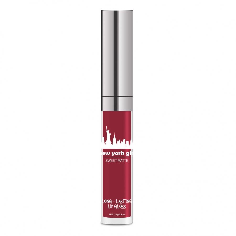 New York Girl Long Lasting Lip Gloss احمر شفاه سائل مات